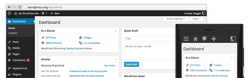 vista wordpress 3.8
