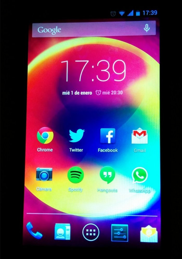 bq aquaris 5 hd pantalla