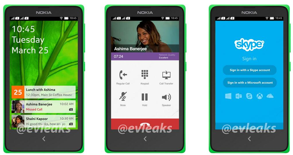 nokia normandy con android