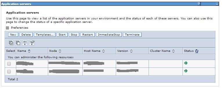 WebSphere Application Servers