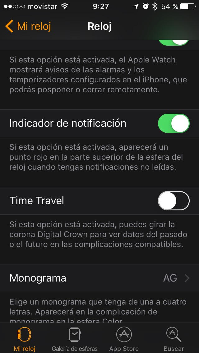 Activar Time Travel en Apple Watch con Watch OS 3