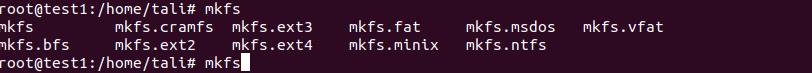 mkfs tipos de formato