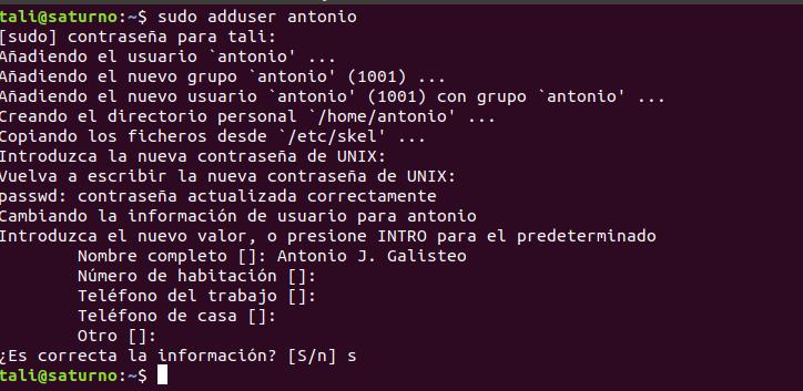 Cómo crear un usuario desde consola en Ubuntu