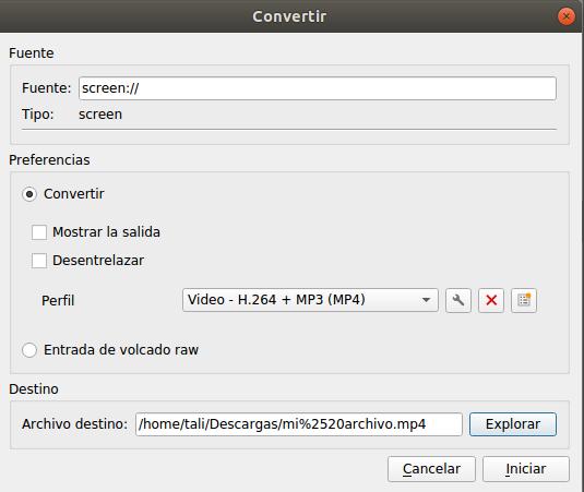 Grabar pantalla con VLC