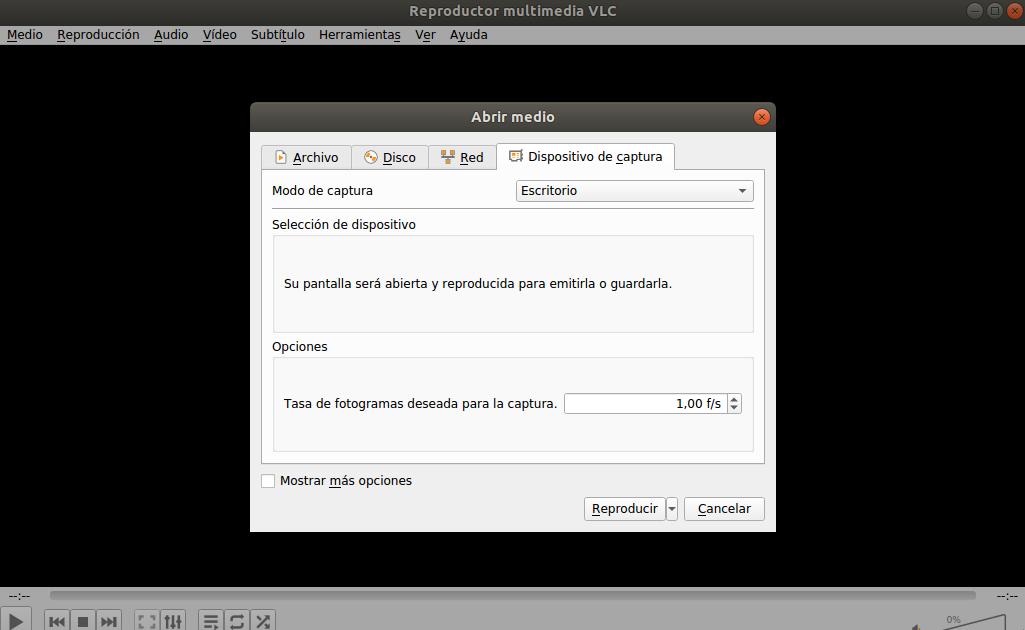 Grabrar escritorio en Ubuntu