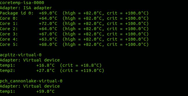 Cómo ver la temperatura del procesador desde la consola en Ubuntu