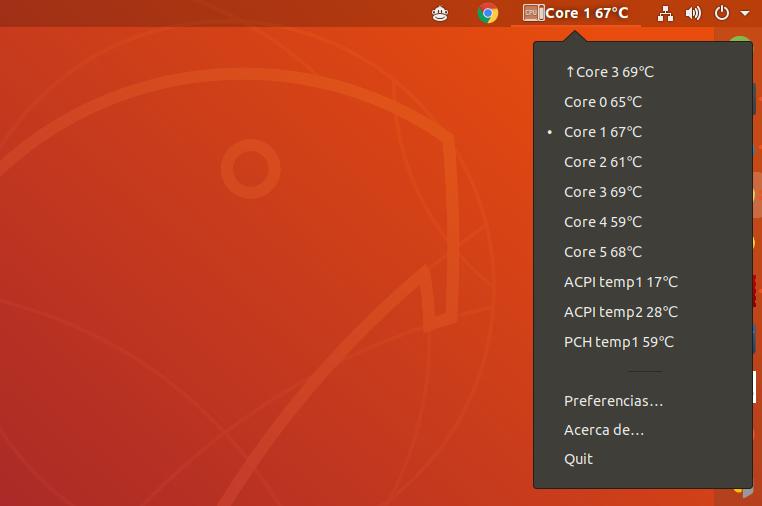 Cómo ver la temperatura del ordenador en ubuntu