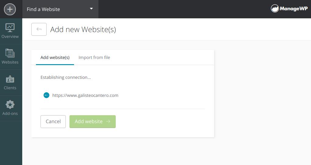 Conectando tu web con ManageWP