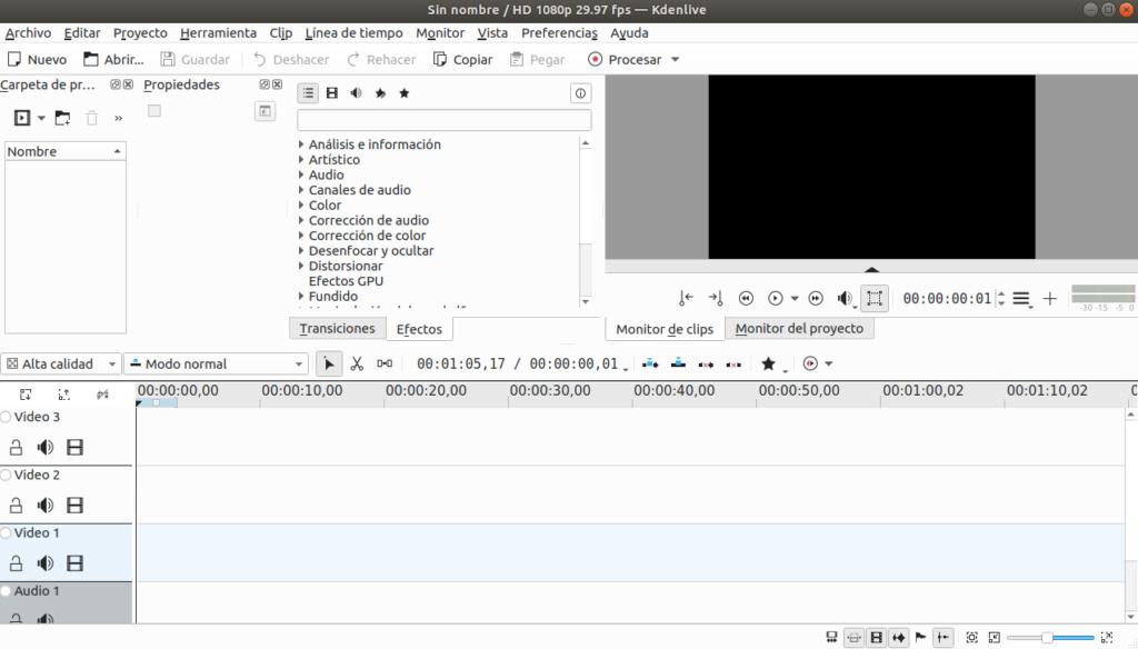 Kdenlive. Un editor de vídeo para Ubuntu Linux