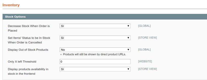 Cómo mostrar productos sin stock en Magento 1.9.X