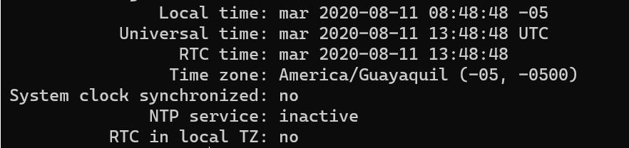 Aprende a usar el comando timedatectl
