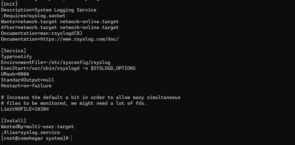 Estructura de un servicio Systemd en Centos7 y Centos 8