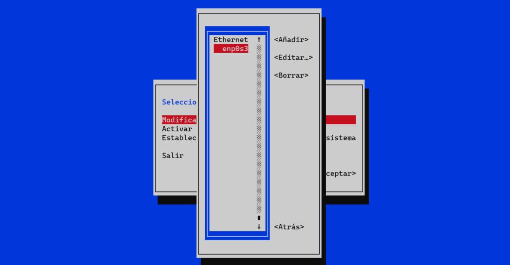 Editar una conexión de red con nmtui en CentOS