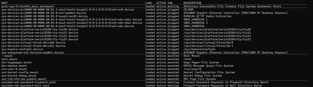 Ver los servicios de Systemd con systemctl