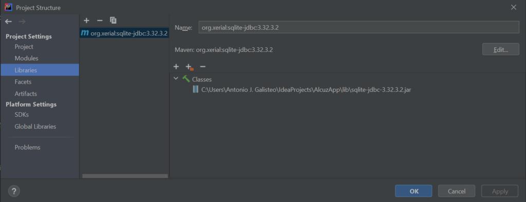 Agregar una librería externa de Java desde Maven