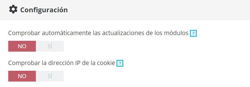 Cómo desactivar el checkeo de IP en la cookie de Prestashop